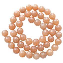 Gemstone Beads Strand, Aventurine, Round, Red, 12mm, ~32 pcs