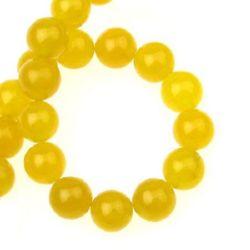 Gemstone Beads Strand, Aventurine, Round, Yellow, 8mm, ~49 pcs