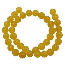 Gemstone Beads Strand, Aventurine, Round, Yellow, 10mm, ~39 pcs