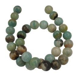 Șireturi mărgele din piatră semiprețioasă AMAZONITE bile 14 mm ~ 28 bucăți