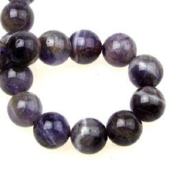 Gemstone Beads Strand, Amethyst, Round, 12mm, 32 pcs