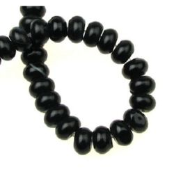 Natural, Black Agate Beads strand 8x5 mm ~ 80 pcs