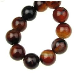 Natural Miracle Agate Round, Dyed Beads strand 12mm ~ 33 pcs ~ 40cm