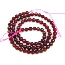 Garnet semi-precious stone, round beads strand 6 mm ~ 68 pieces