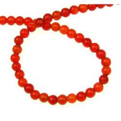 Gemstone Beads Strand, Carnelian, Round, 4mm, ~100 pcs, ~40 cm