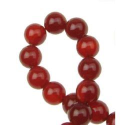 Gemstone Beads Strand, Carnelian, Round, 8mm, ~49 pcs