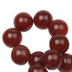 Gemstone Beads Strand, Carnelian, Round, 14mm, ~28 pcs