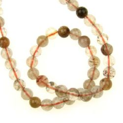 Rutile Quartz 7 mm String Assorted  Beads Semi Precious Stone ~51 Pieces
