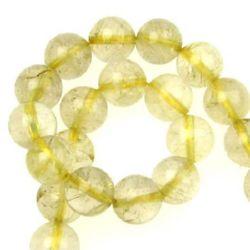 Natural, Rutilated Quartz Round Beads Strand 10mm ~ 40 pieces