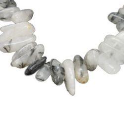 TOURMALINE QUARTZ Chip Beads Strand 6 ~ 20x4 ~ 13x1 ~ 12mm  ~ 55 pieces