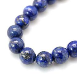 Natural Lazurite Lapis Round Beads Strand 8mm ~ 24pcs