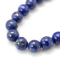 Natural Lazurite Lapis Round Beads Strand 14mm ~ 14pcs