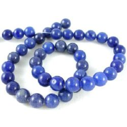 Gemstone Beads Strand, Lapis Lazuli, Round, 8mm, ~50 pcs