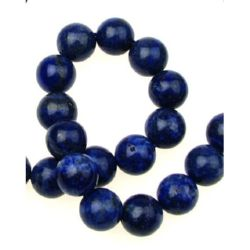 Gemstone Beads Strand, Lapis Lazuli, Round, 12mm, ~33 pcs