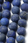 Natural Lazurite Lapis Round Beads Strand, Frosted 8mm ~ 48 pieces
