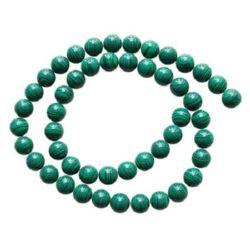 Gemstone Beads Strand, Synthetic Malachite, Round, 6mm, 64 pcs
