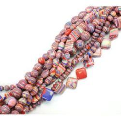 Gemstone Beads Strand, Synthetic Malachite, Mixed, 5~18.5x6.5~18x4.5~14 mm.