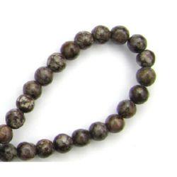 Наниз мъниста полускъпоценен камък ОБСИДИАН КИТАЙСКИ топче 4 мм ~95 броя