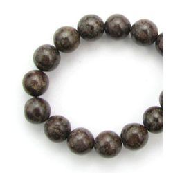 Наниз мъниста полускъпоценен камък ОБСИДИАН КИТАЙСКИ топче 6 мм ~64 броя