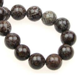 Наниз мъниста полускъпоценен камък ОБСИДИАН КИТАЙСКИ топче 14 мм ~28 броя