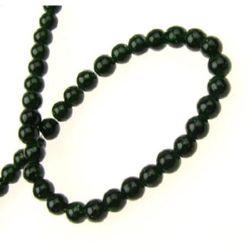 Наниз мъниста полускъпоценен камък СЛЪНЧЕВ КАМЪК ЗЕЛЕН топче 4 мм ~96 броя