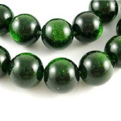 Mărgele  șnur din piatră semiprețioasă minge piatra soarelui verde  10 mm ~ 40 bucăți