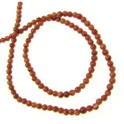Margele de coarde Piatră semiprețioasă piatra soarelui  maron 2mm ~ 200 bucăți