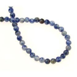 Gemstone Beads Strand, Sodalite, Round, 4mm, ~100 pcs