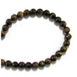 "Grade ""B"" TIGER'S EYE Round Beads Strand 8 mm ~ 48 pcs"