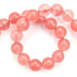 Cherry Quartz 12 mm String Beads Semi Precious Stone ~32 pieces