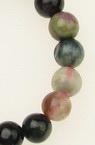 Наниз мъниста полускъпоценен камък ТУРМАЛИН топче 6 мм ~65 броя
