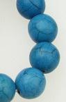 Șireturi Bile din piatră semiprețioasă TURCOAZ bila sintetică 10mm ~ 40 bucăți