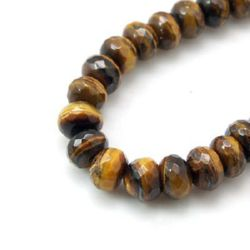 TIGER'S EYE Abacus Faceted Beads Strand 8x5 mm ~ 35 pcs