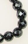 Наниз мъниста полускъпоценен камък ХЕМАТИТ фасетиран немагнитен топче 8 мм ~55 броя