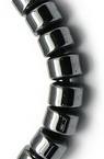 Наниз мъниста полускъпоценен камък ХЕМАТИТ немагнитен 4x3 мм ~135 броя