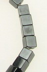 Gemstone Beads Strand, Non-magnetic Synthetic Hematite, Cube, 4x4x4mm, 95 pcs