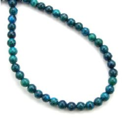 Gemstone Beads Strand, Chrysocolla, Round, 4mm, ~95 pcs