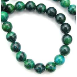 Gemstone Beads Strand, Chrysocolla, Round, 10mm, ~39 pcs