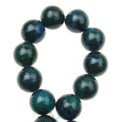 Gemstone Beads Strand, Chrysocolla, Round, 14mm, ~28 pcs