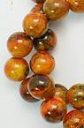 Perle de coarde semiprețioase bile CHRIZOCOLA portocaliu 22mm ~ 28 bucăți