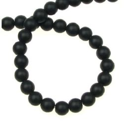 Black Onyx Round Beads Strand, Matte 6mm ~ 67 Pieces