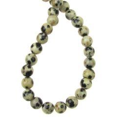 Șireturi mărgele piatră semiprețioasă YAPIS Ball Dalmatian 4 mm ~ 95 bucăți