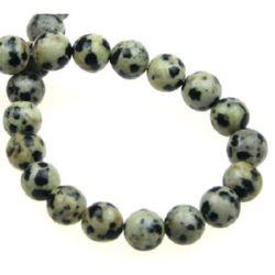 Șireturi mărgele piatră semiprețioasă Bilă Jasp Dalmatian 8 mm ~ 50 bucăți