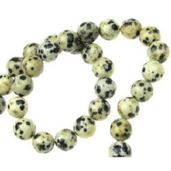 Natural Dalmatian Jasper Round Beads Strand 10 mm ~39 pieces