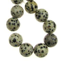 Șireturi mărgele piatră semiprețioasă YAPIS Ball Dalmatian 12 mm ~ 33 bucăți