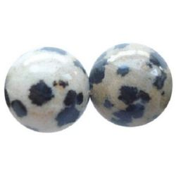 Ιάσπις dalmatian στρόγγυλη ημιπολύτιμη χάντρα 14 mm ~ 28 τεμάχια