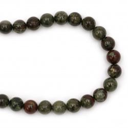 Margele de sfoară piatră semiprețioasă JASPICE Dragon Blood mingea fațetată de 10 mm ~ 37 de bucăți