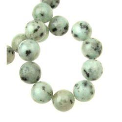 Наниз мъниста полускъпоценен камък ЯСПИС Лотос топче 12 мм ~32 броя