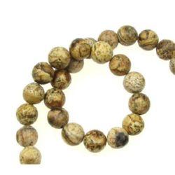 Mărgele de coarde Semi Prețioasă piatră Jasper Ball 8mm ~ 50 bucăți