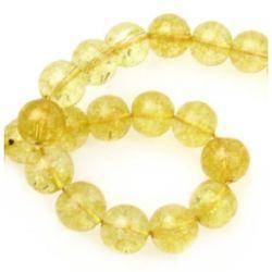 String beads semi-precious stone CITRIN ball 10 mm ~ 40 pieces